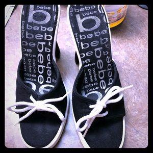 """Bebe Canvas 4"""" Sling Heels"""